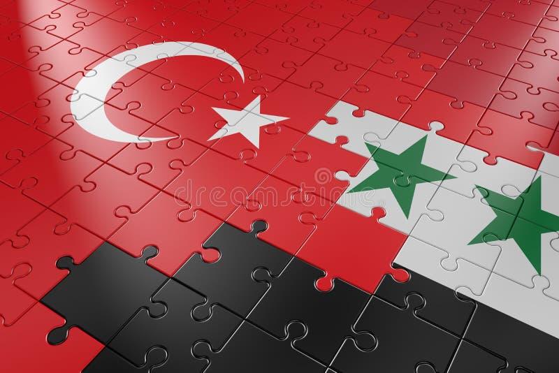 Enigmas Turquia e Síria ilustração royalty free