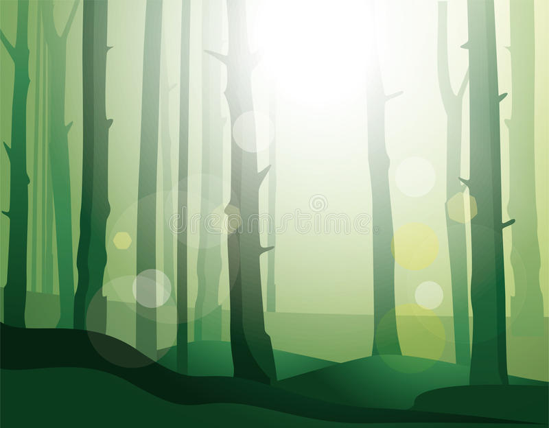Download Enigmatic  forest. stock vector. Image of landscape, uncultivated - 19888235