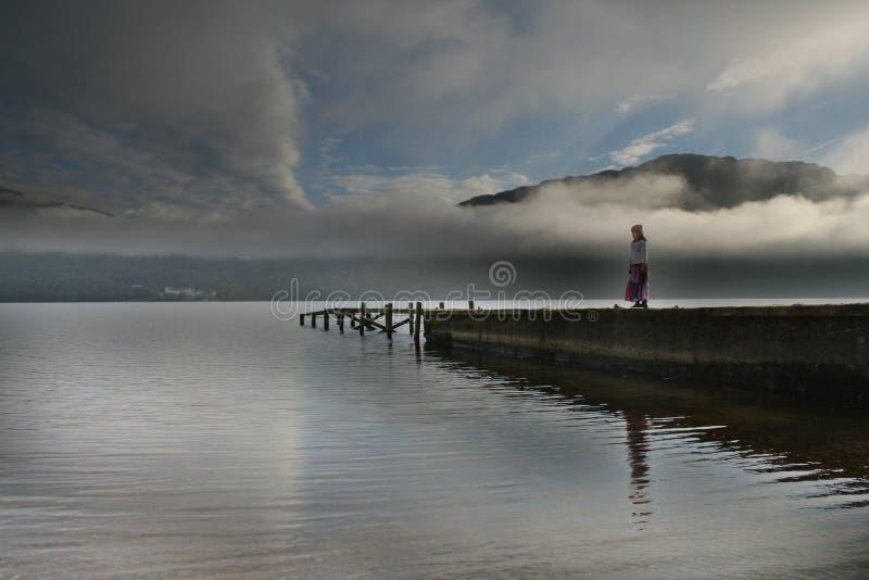 Enigmatic Loch Lomond royalty free stock image