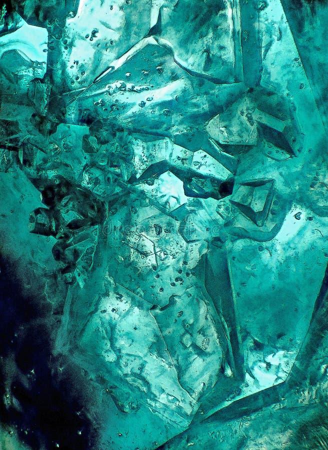 Enigmatyczny świat kryształy fotografia stock