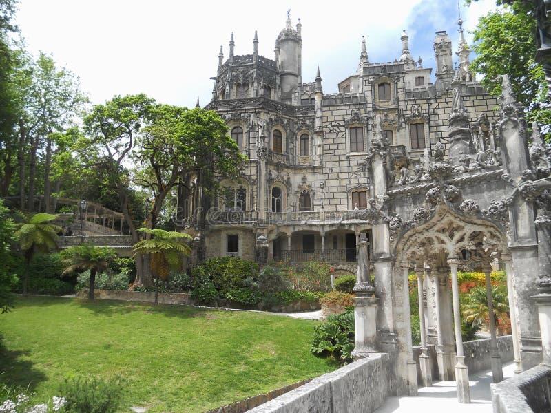 Enigmatyczny pałac Regaleira, Sintra, Portugalia zdjęcia royalty free