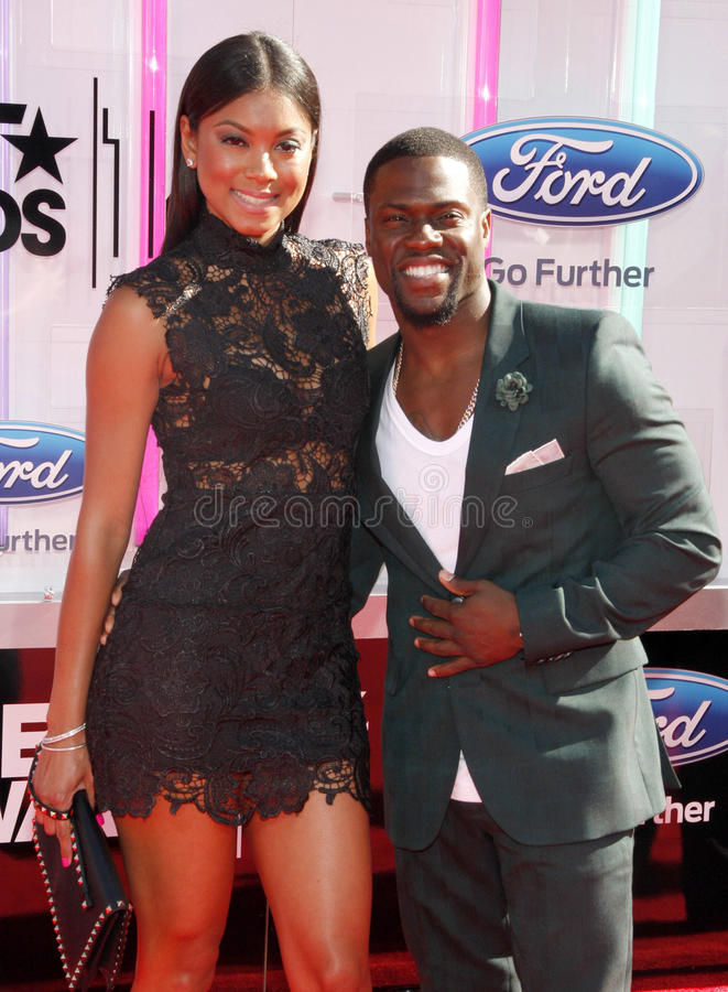 Eniko Parrish and Kevin Hart royalty free stock photography