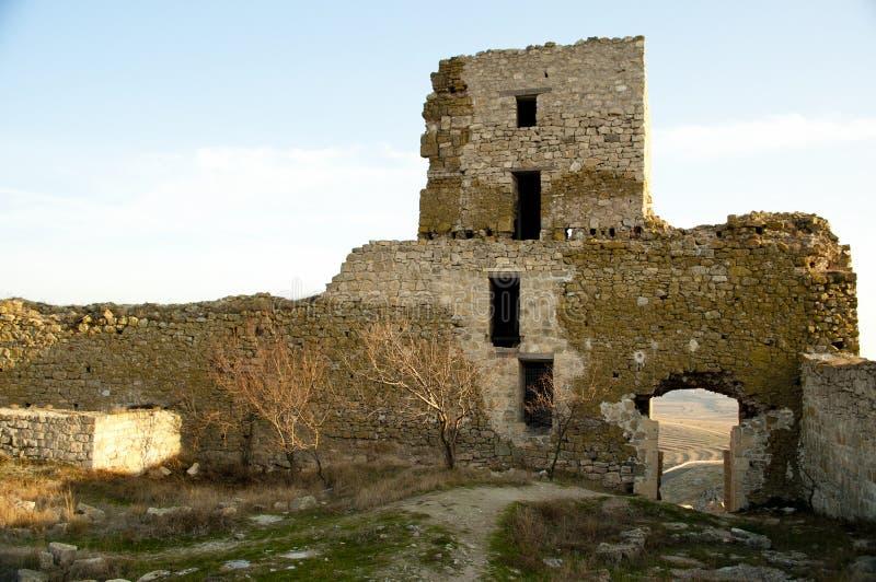 enisala堡垒中世纪废墟 免版税库存照片