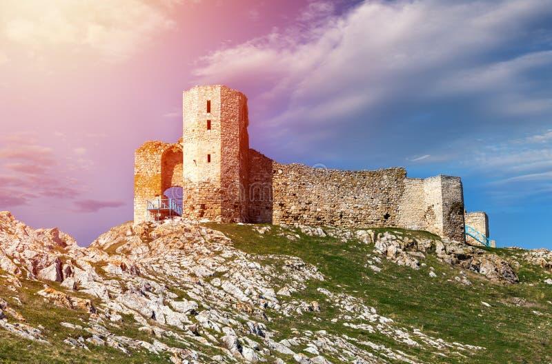 Enisala, antic φρούριο κάστρων σε Dobrogea, Ρουμανία στοκ φωτογραφίες με δικαίωμα ελεύθερης χρήσης