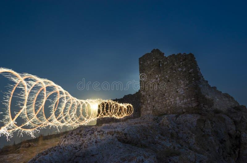 Enisala citadel fotografering för bildbyråer