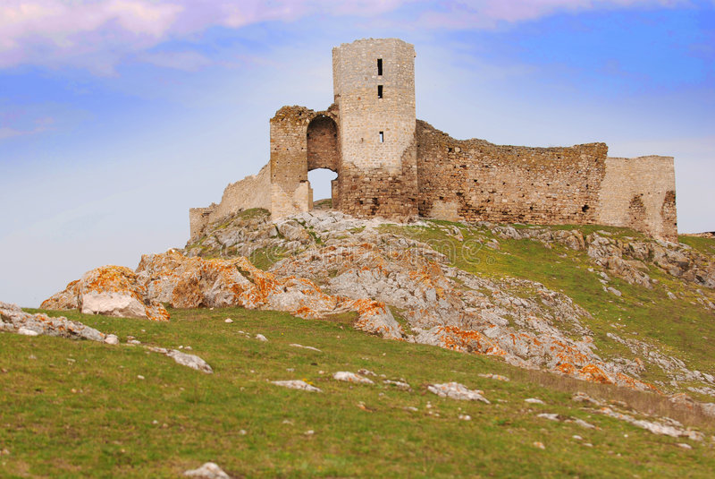 Enisala fortress, Romania royalty free stock photo