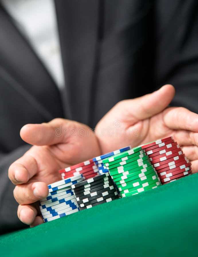 Enjeu au casino image stock