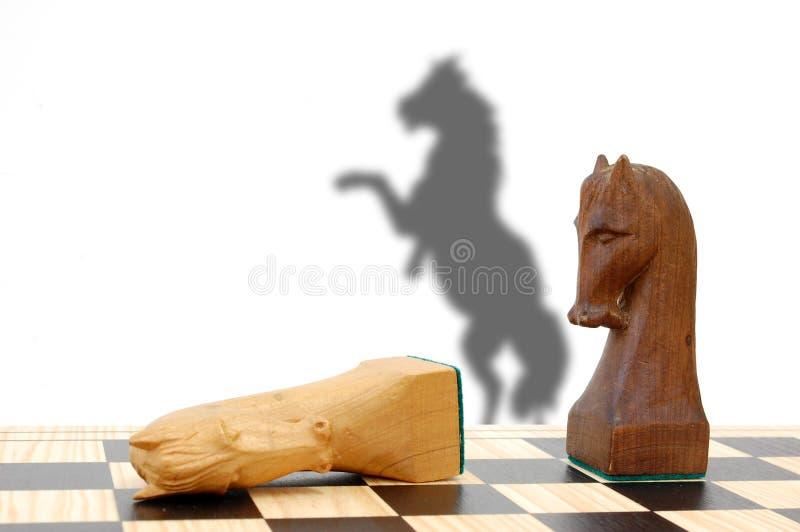 Enjeu d'échecs photo libre de droits