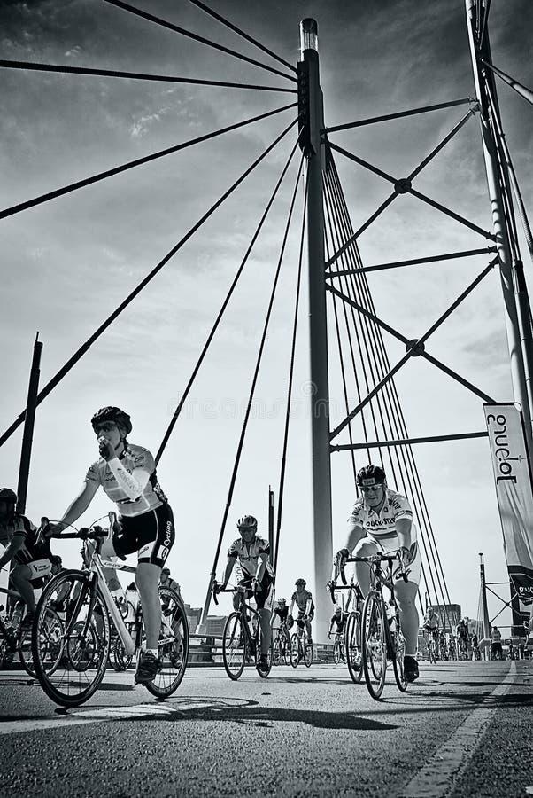 Enjeu dimanche - de cycle élan 94.7 - 2010 image stock