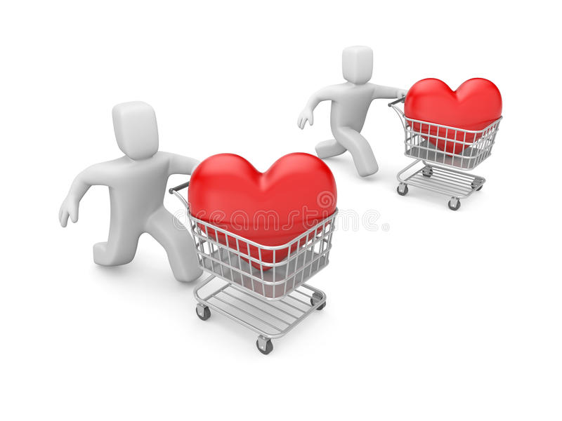 Enjeu du jour de Valentine illustration de vecteur