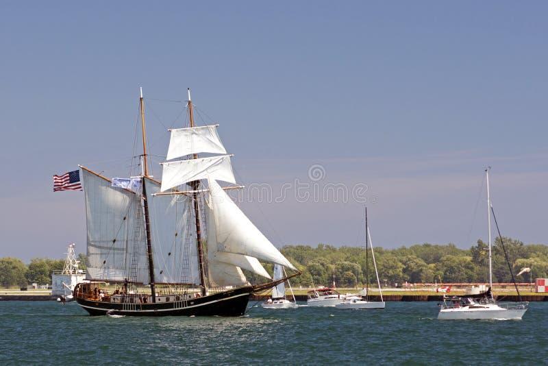 Enjeu grand 2010 de bateaux - licorne de STV photographie stock