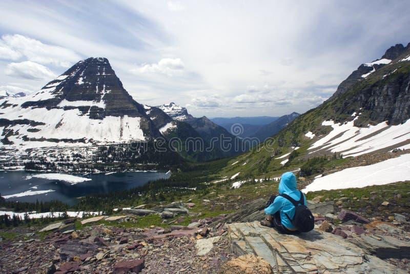 Enjoing die Rockies stockfotos