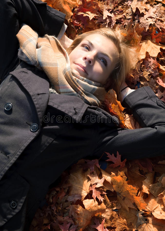 Download Enjoy autumn stock photo. Image of satisfaction, well - 21502828