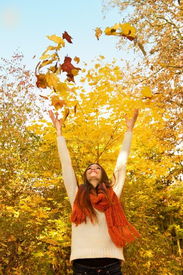 Download Enjoy Autumn stock image. Image of fashion, beauty, facial - 27375027