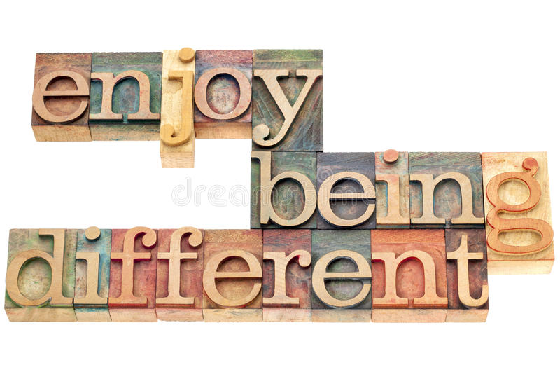 Enjoy Being Different Royalty Free Stock Image