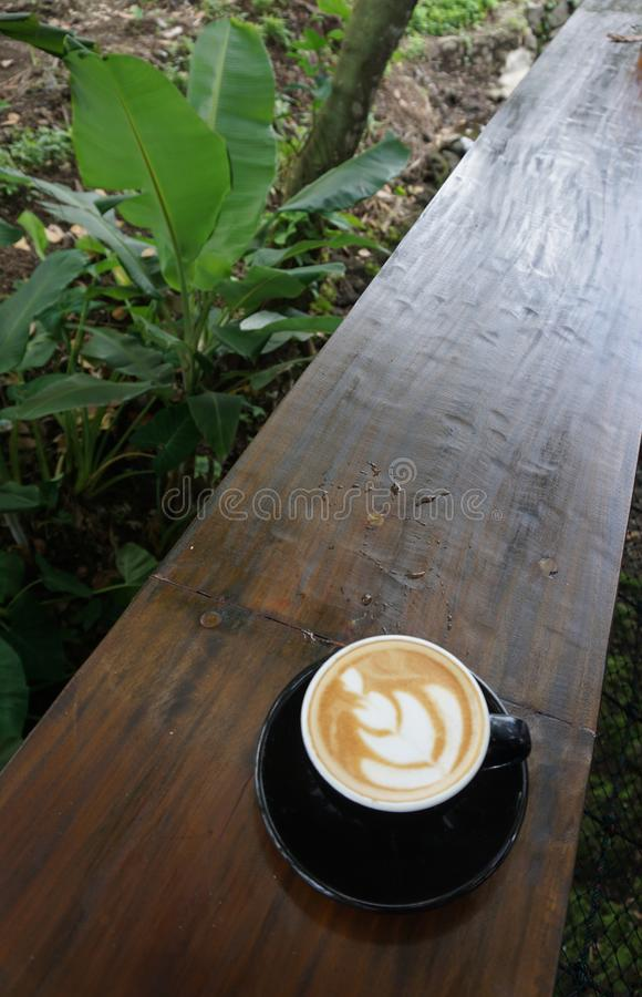 Enjoy coffee in nature royalty free stock images