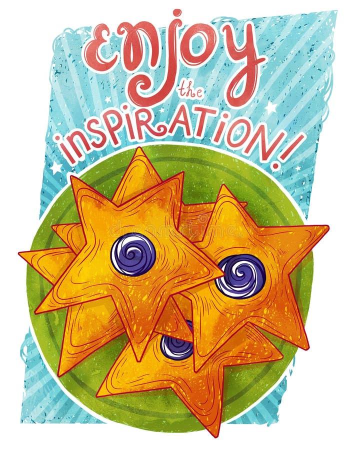 Enjoy the inspiration! royalty free stock image