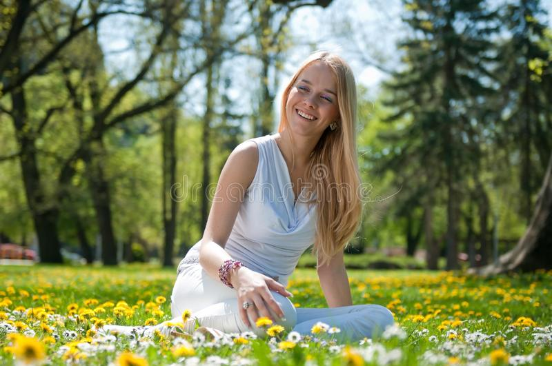 Enjoy life - happy young woman royalty free stock photography