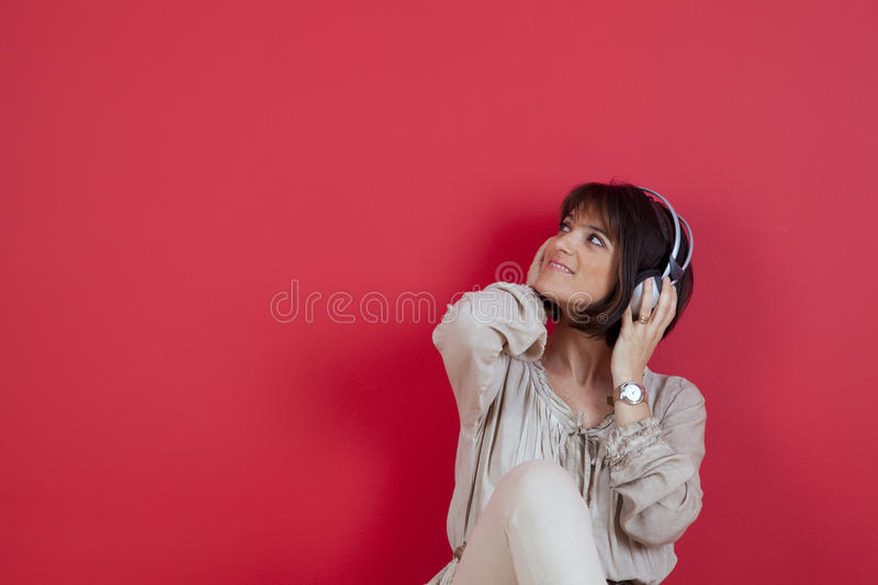 Download Enjoy music at home stock image. Image of earphones, entertainment - 26737165