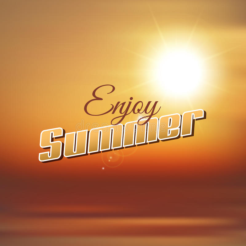Enjoy Summer Background Stock Vector