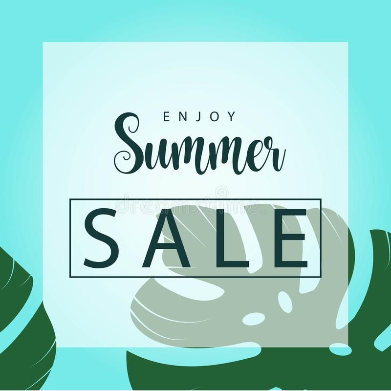 Enjoy Summer Sale Vector Template Design Illustration. Summer sale design background illustration colorful banner beach vector poster enjoy vacation element vector illustration