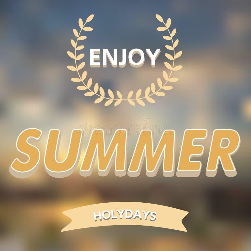 Download Enjoy Summer Vector Typography Stock Vector - Illustration: 41332631