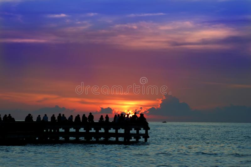 Download Enjoy sunset or sunrice stock image. Image of silhoutte - 4091121
