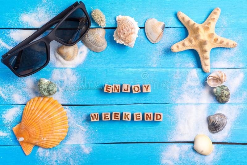 Enjoy weekend with summer settings concept royalty free stock photos
