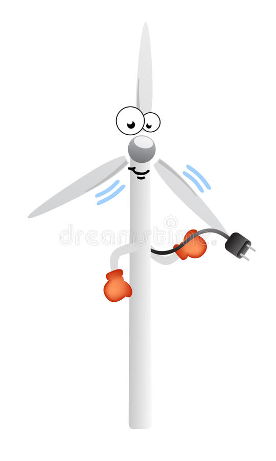 Enjoy wind energy comic character