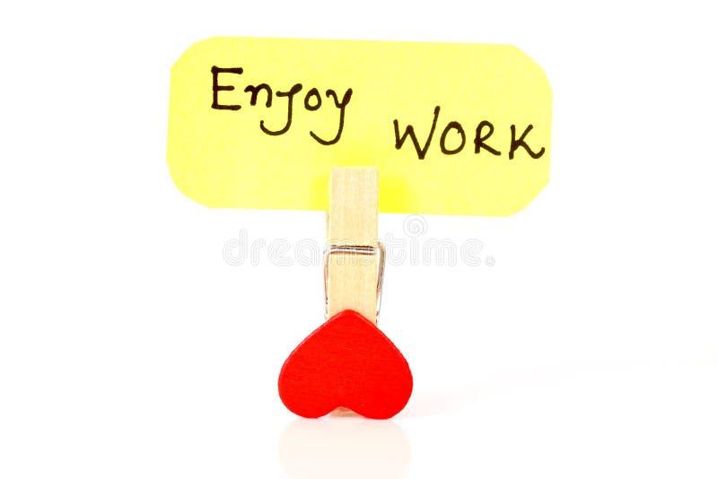 Enjoy work stock photography