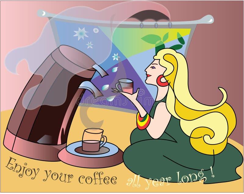 Download Enjoy your coffee stock illustration. Illustration of interlocutor - 1140266