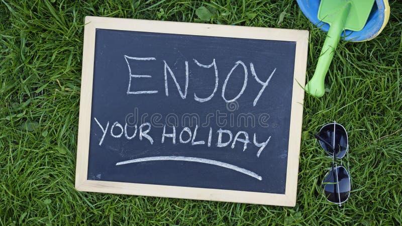 Enjoy your holiday stock image