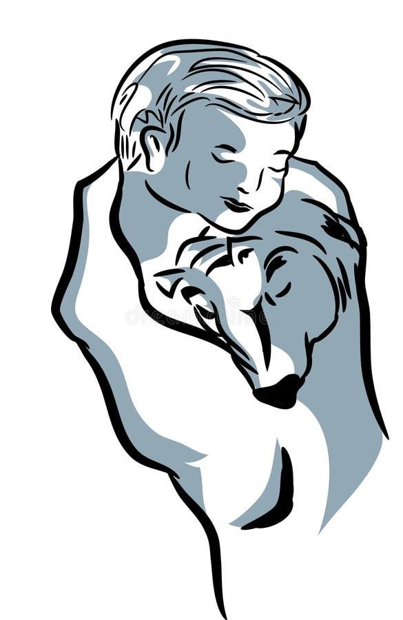 Download Enjoying baby and dog stock vector. Illustration of dognbabies - 114493802