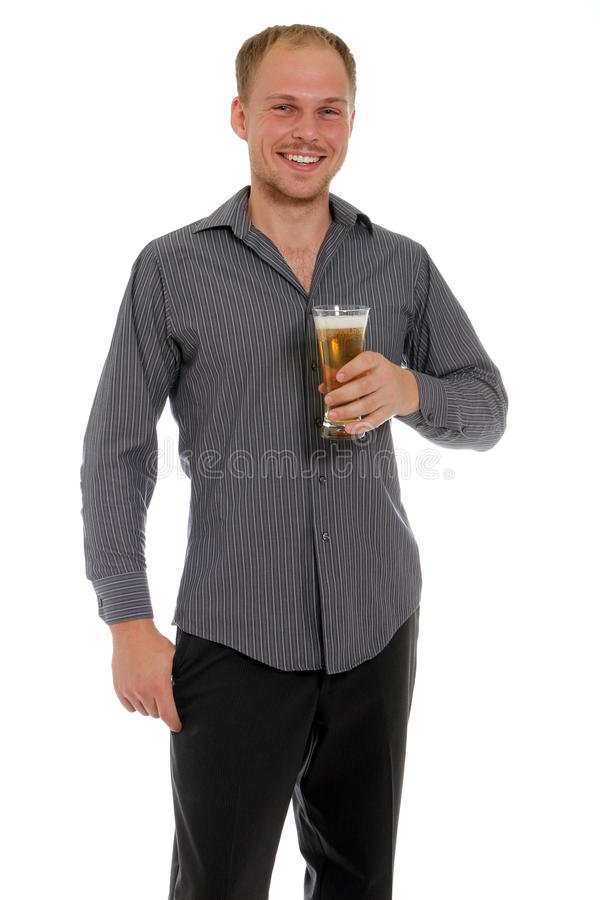 Download Enjoying a beer stock photo. Image of happy, light, beverage - 22013352