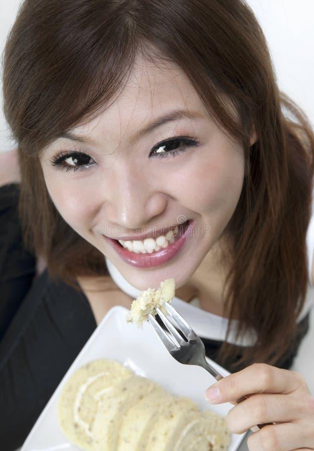 Download Enjoying cake stock image. Image of adult, ethnic, enjoyment - 16028431