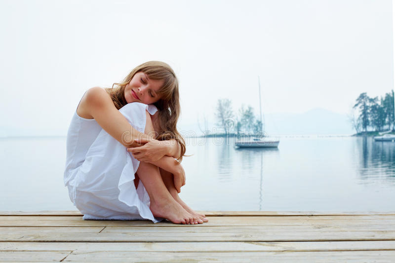 Download Enjoying calm day stock image. Image of alone, fashion - 16537869