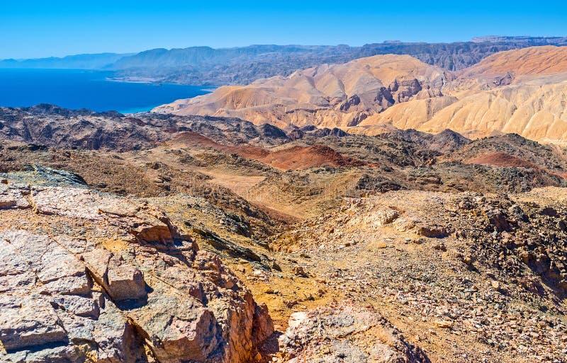 Enjoying Eilat mountains stock photography