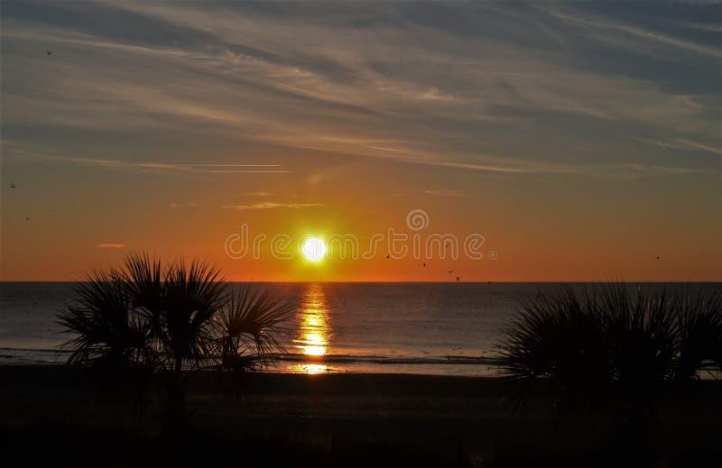 Myrtle Beach Sunset royalty free stock photos