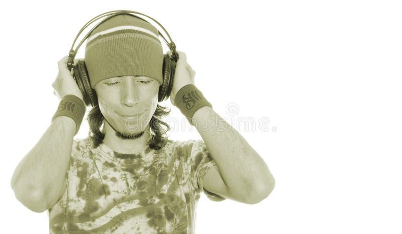 Enjoying His Music stock photography