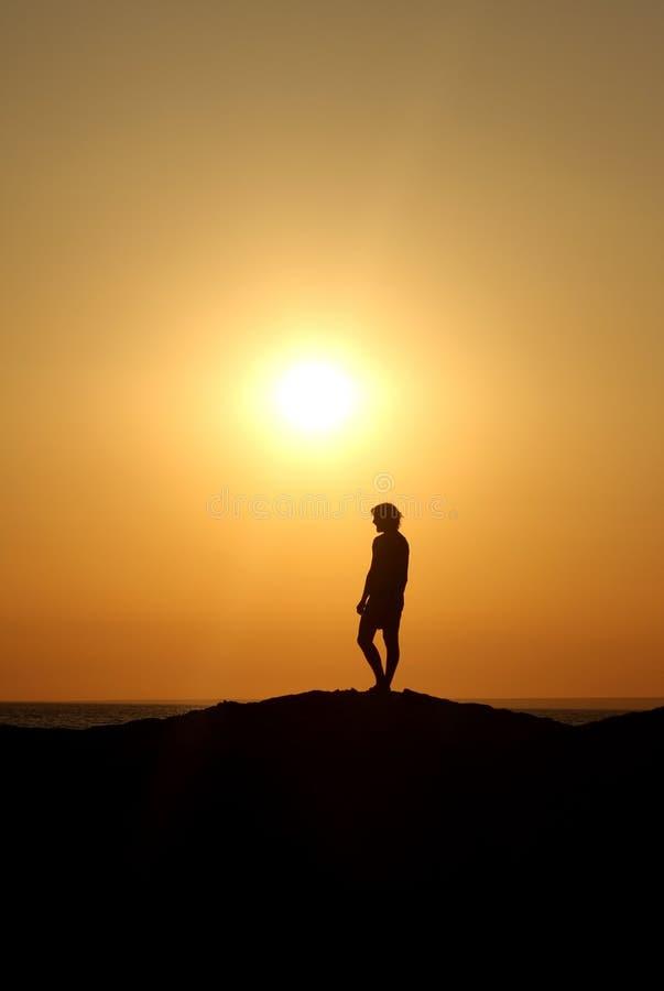 Download Enjoying Idillic Landscape At Dusk Stock Photo - Image of horizon, sunset: 26476746
