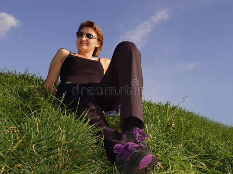 Download Enjoying life outdoor stock image. Image of legs, morning - 60299