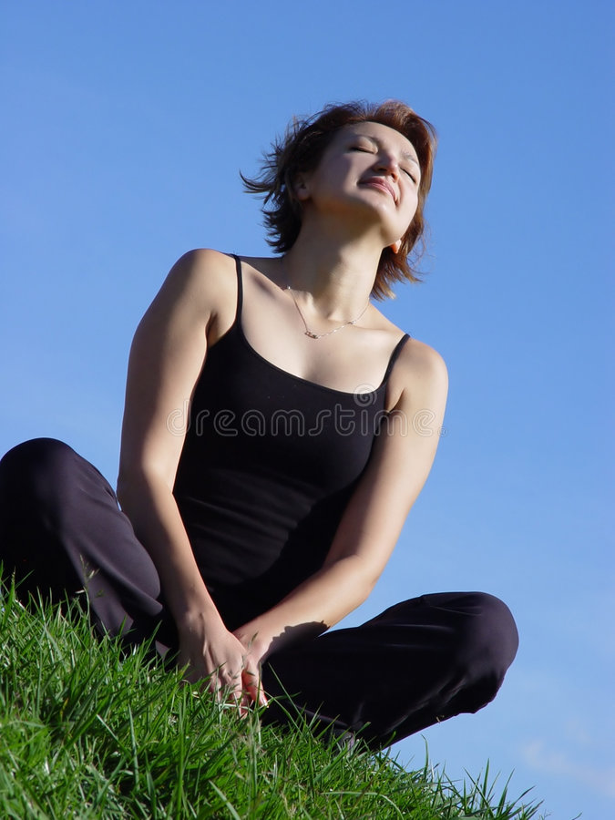 Download Enjoying life outdoor stock image. Image of meditation, athletic - 60309