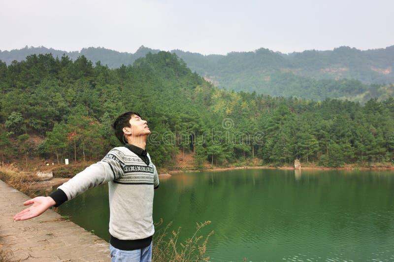 Enjoying nature stock image