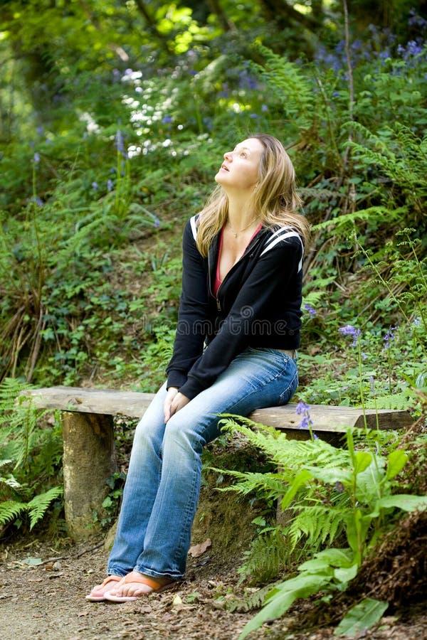 Enjoying the outdoors stock image