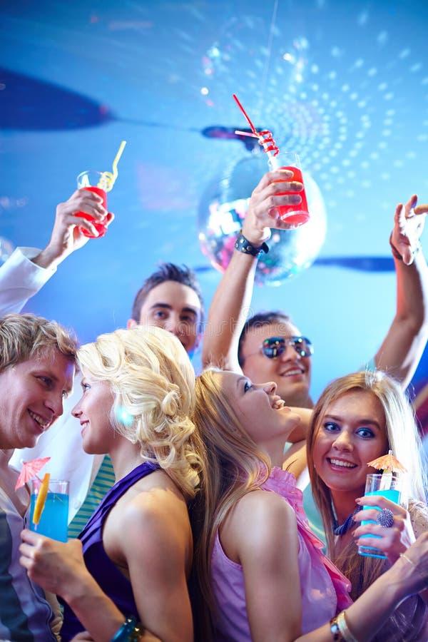 Enjoying party royalty free stock photography