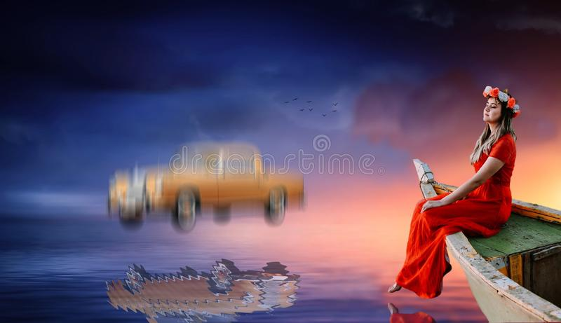 Enjoying The Peace While A Mercedes Is Falling Down! Free Public Domain Cc0 Image