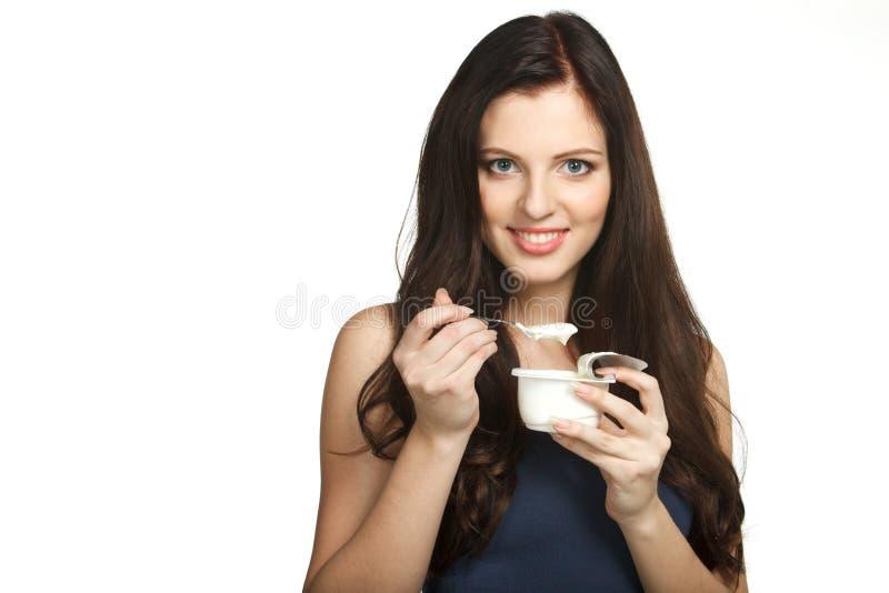 Download Enjoying taste of yogurt stock image. Image of diet, adult - 18514147