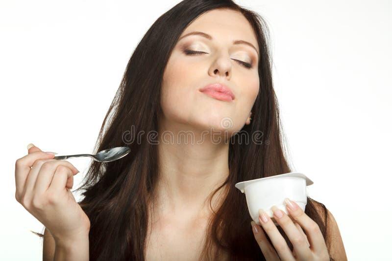 Download Enjoying Taste Of Yogurt Stock Images - Image: 18514194