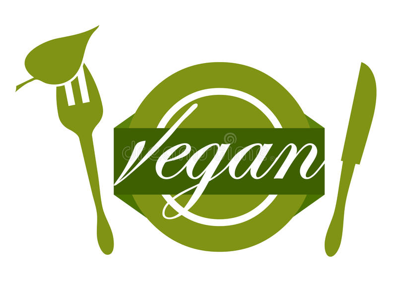 Enjoying Vegan Food Stock Vector Illustration Of Embossed 95460783