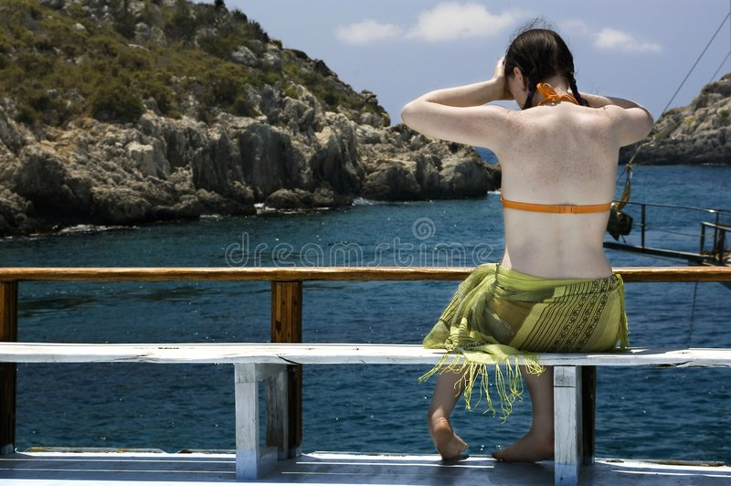 Enjoying the view royalty free stock photography